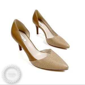 COLE HAAN Cremini Cashew Pointed D'Orsay Pumps